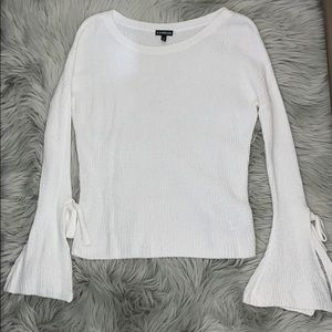 Express white bell sleeve sweater